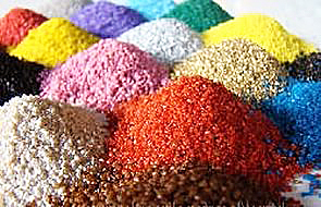 Мраморная крошка разных цветов