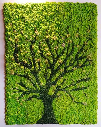 панно из мха дерево Москва